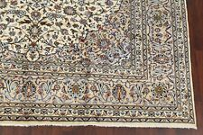 Ivory Floral Ardakan Hand-Knotted Oriental Area Rug 10'x13' Dining Room Carpet