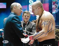 Fedor Emelianenko Signed 8x10 Photo BAS Beckett COA MMA Picture w Vladimir Putin