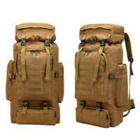60L Molle Outdoor Military Tactical Bag Camping Hiking Trekking Backpack