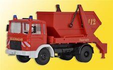 Kibri 18201 échelle H0, pompier man 2 essieux Skip Chargeuses #