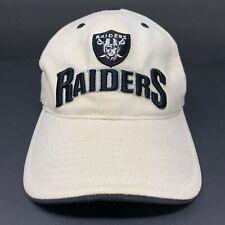 Vintage Raiders Hat NFL Adjustable Strapback Cap Creme & Black Twins Enterprise