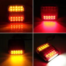 2x 12V LED Luz trasera Cola remolque Indicador Lámpara Caravana Camión Magnético
