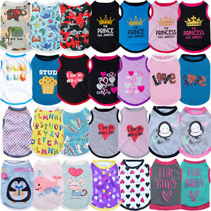 Cute Pet Dog Cat Clothes Summer Puppy T Shirt Clothing Small Dog Chihuahua Vest#