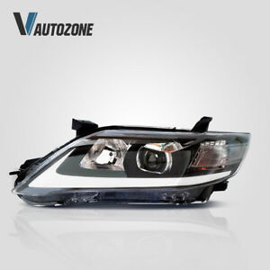 Headlight Fit For Toyota Camry 2010 2011 LED DRL Projector Black Front Lamp Set