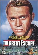 The GREAT ESCAPE (Steve McQUEEN James GARNER) Classic Adventure Film DVD Reg 4