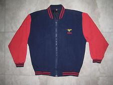 Vintage ESSO Exxon Mobil Gasoline Gas Oil Uniform Work Jacket Windbreaker USED L