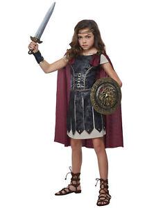 Fearless Gladiator Spartan Medieval Renaissance Roman Warrior Girls Costume