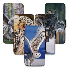 Stunning Owls Birds Flip Phone Case Cover Wallet - Fits Iphone 5 6 7 8 X 11