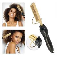 Hair Straightener Flat Irons Straightening Brush Hot Heating Straight Hair A7K3