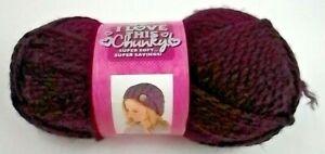 1 Skein I Love This Chunky!  Yarn  Plumberry color Bulky - 5  Hobby Lobby Yarn