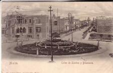 POST CARD CITTA' MEXICO  CALLE DE  LONDRES Y DANIMARCA  VIAG 1908