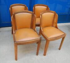 4 sedie in noce deco imbottite h alla seduta 46 cm e h totale 78 cm SPEDIZION...