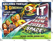 """Cult 50's Film """"It Came From Outer Space"""" Classic Vintage Sci-Fi Poster re-print"""