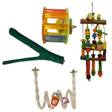 BIRD TOY PACKAGE-  Parrot, bird, wood, Rope, Acylic, sand, perch.
