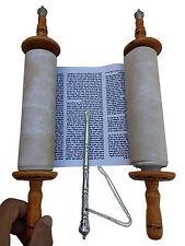 rouleau de la Torah - Beautiful Sefer Torah Scroll Hebrew Bible 32 CM + Yad