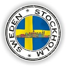 Seal Sticker of Sweden Stockholm Stamp Bumper Roundel Laptop Car Truck #02