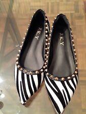 Pointed Toe  Flat  Zebra Studded Ballet Slip On Shoes Size 39  US 9