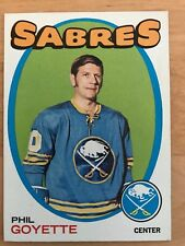 1971/72 Topps Hockey Card #88 Phil Goyette Buffalo Sabres NM