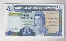 More details for b22b gibraltar £10 banknote 1986 in mint condition