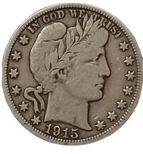 Barber Silver Half Dollar 1915-S