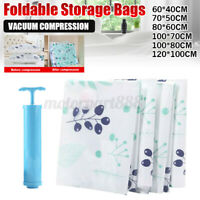 1/8/25 Vacuum Space Saver Storage Bags Seal Compressing Organizer for Clothes