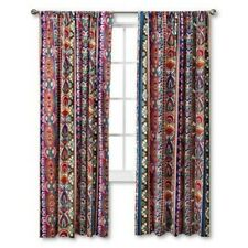 NEW! MudHut Talavera Window (ONE) Panel Curtain Bright Blue MUL Shapes