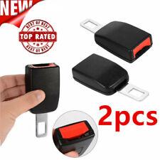 Universal 2PCS Car Seat Belt Plug Buckle Extension Clip Alarm Stopper Canceller