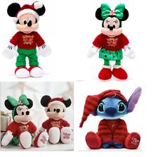 BNWT Disney Store Mickey Minnie Stitch 2020 Holiday Cheer Soft Plush Toy