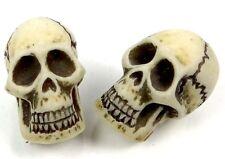 2 Skull Bone Resin Pendant Focal Beads 25mm