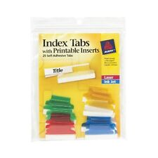 Avery Self-adhesive Index Tabs With Printable Insert - Print-on - 25 / Pack -