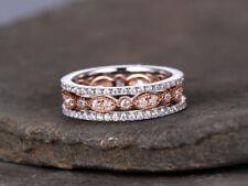 2ct Round Cut Diamond Vintage Anniversary Wedding Band 14k White Rose Gold Over