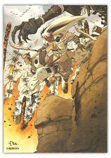 Ex-libris HUB Okko Le feu signé 21x29,7 cm