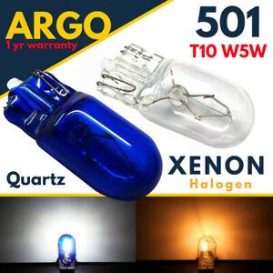 T10 501 Xenon Bulbs Sidelight Super White Halogen W5W Side Light Bulb Wedge Car