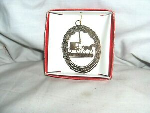 #1904 -24K GOLD FLASHED BRASS FILIGREE CHRISTMAS ORNAMENT - AMISH COUNTRY BUGGY