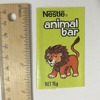 VINTAGE NESTLE'S ANIMAL BAR MILK CHOCOLATE WRAPPER LION 1970S AUSTRALIA EXC!