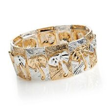 ELEPHANT BRACELET IN TWO TONE GOLD AND SILVER COLOUR