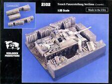 Verlinden 1:35 Trench Panzerstellung Sections Ceramic Diorama Set #2102