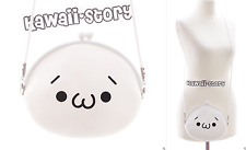 LB-45-2 Onigiri Emoji Gesicht Silikon weiß Pastel Goth Harajuku Tasche Japan