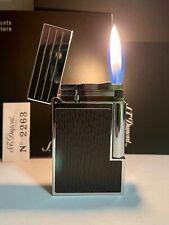 Vintage lighter Dupont Ligne 2 Palladium & Leather Super Excellent Rare