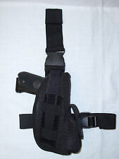 NEW  LEFT HAND Tactical SAS Military Adjustable Leg Thigh Gun Holster SWAT BLACK