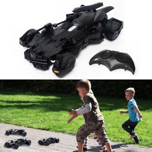 Black Electric Batmobile RC Remote Control Car Toy 8.5km/h 1:18