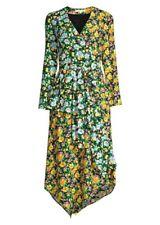MAJE Roen Long Floral Print Mock Wrap Dress 3 US 8