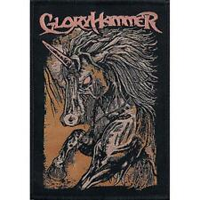 OFFICIAL LICENSED - GLORYHAMMER - ZOMBIE UNICORN WOVEN SEW-ON PATCH POWER METAL