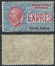 1907-21 ERITREA ESPRESSO 30 CENT MH * - K044