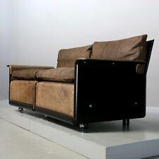 2-Sitzer-Sofa von Dieter Rams für Vitsoe, Sesselprogramm 620 Leder braun Couch