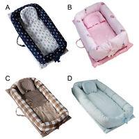 Tragbare waschbare atmungsaktive Baumwolle Baby Lounger Nest für 0-24 Monate