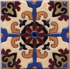 6x6 Gorgeous Decorative Malibu Tile Hand-Painted in USA