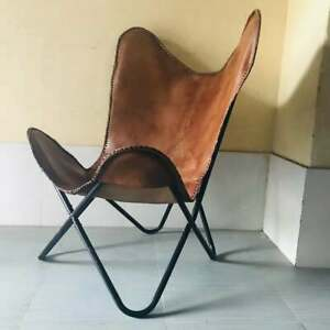 Leather Living Room Butterfly Chair Handmade Genuine Leather