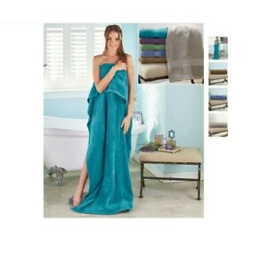 "Oversized Bath Sheets 34"" x 68"" Soft Absorbent Zero Twist 100% Cotton Towels"