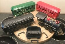 Nice Reproduction Cast Iron Train Set Of 1 Engine, 1 Tender & 3 Passenger Cars